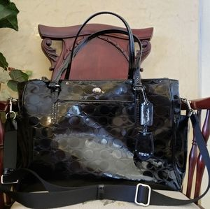 COACH PEYTON LINEAR C EMBOSSED PATENT Tote Handbag